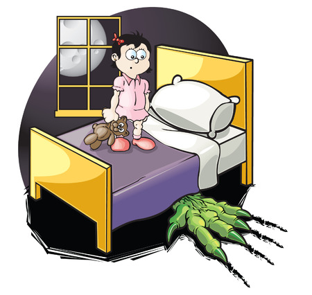 Monster under bed Vector