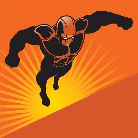 Generic Flying Superhero Stock Vector - 6161671