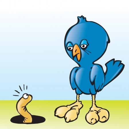 The Early Bird  イラスト・ベクター素材