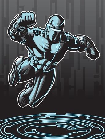 microprocesadores: Tecnol�gicamente avanzados que buscan superh�roes en un entorno cibern�tico.