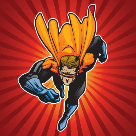 Super hero running forward at a fast pace  Vector