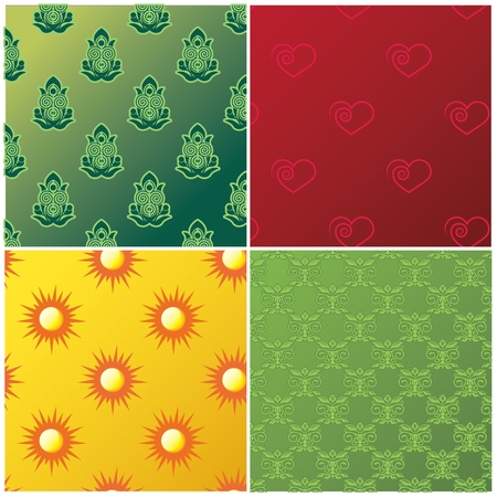 part frog: Four different pattern designs for various uses  Illustration
