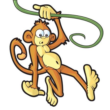 何か面白いものを見てつるにスイング猿