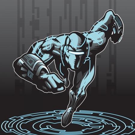 cyborg: Superh�roe busca de tecnolog�a avanzada en un entorno cibern�tico