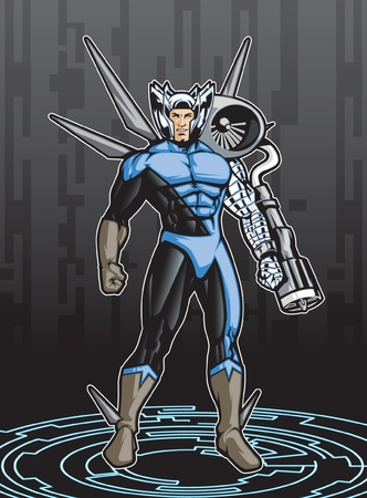 Member of a hero team  イラスト・ベクター素材
