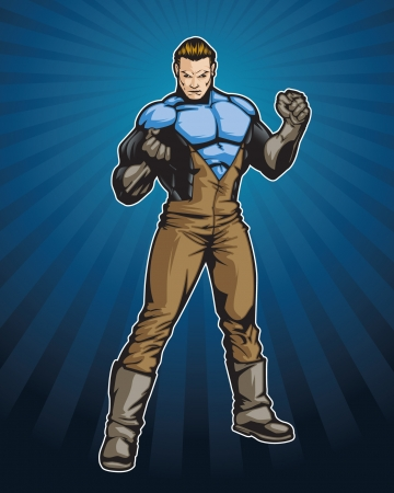 comicbook: Member of a hero team Illustration