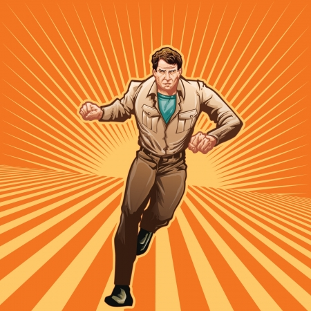 super hero: File uses transparencies. Use illustrator 10 minimum to edit.