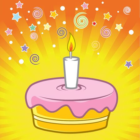 Vector birthday cake  Layered and easy to edit Stock Vector - 19385879