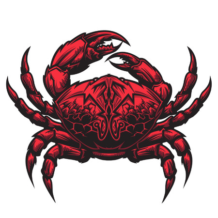 Crab representing Cancer zodiac sign or just a sharp vector graphic for general use  Layered and easy to edit  Ilustração