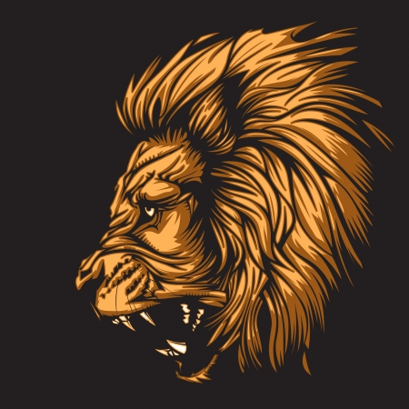 Lion representing Leo zodiac sign or just a sharp vector graphic for general use  Layered and easy to edit  Иллюстрация