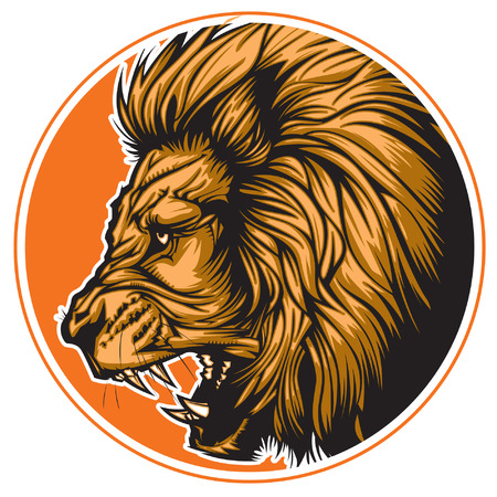 Lion representing Leo zodiac sign or just a sharp vector graphic for general use  Layered and easy to edit   イラスト・ベクター素材