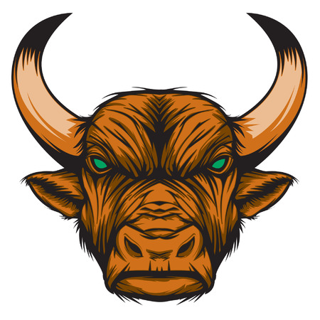 zodiac anger: Bull representing Taurus zodiac sign or just a sharp vector graphic for general use  Layered and easy to edit