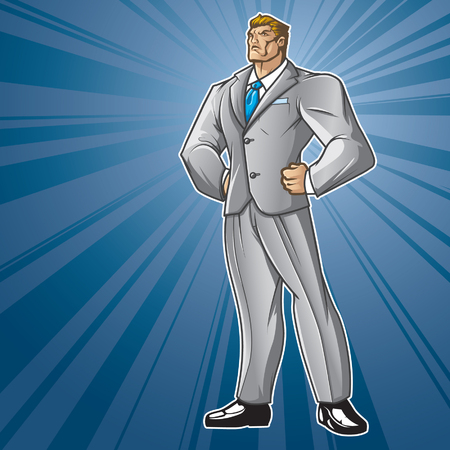 Generic businessman figure standing proud   Layered   easy to edit  See portfolio for other images  Stock Vector - 22608472