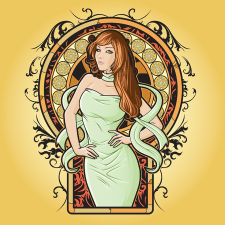 Girl representing Virgo zodiac sign or just a sharp vector graphic for general use  Layered and easy to edit  Vector