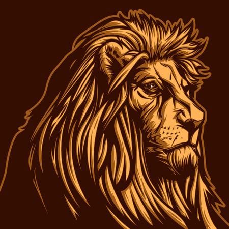 León Ilustración de vector