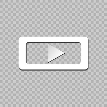 Red button video player. Social media. Social Media Background Sign Download.