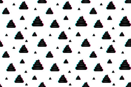 Poop seamless pattern. Background with poop, excrement smell in the style of a famous social network. EPS10 Vector Illustratie