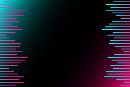 Abstract sound wave stripe lines colorful equalizer isolated on black background. Music waves, gradient color background. Social media concept.Vector illustration. EPS10