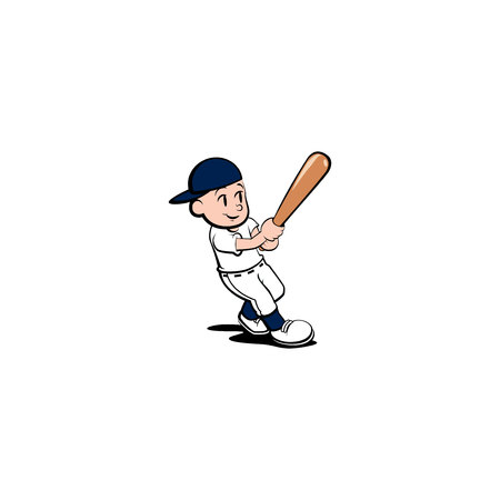 striker: Baseball. High Quality design for your business. Free editing.