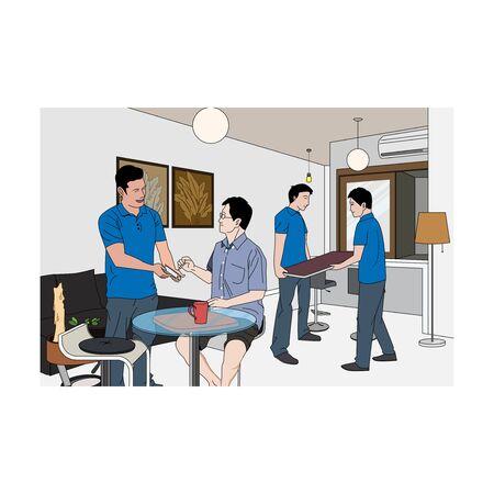 Moving Company Services illustrations. Ilustração