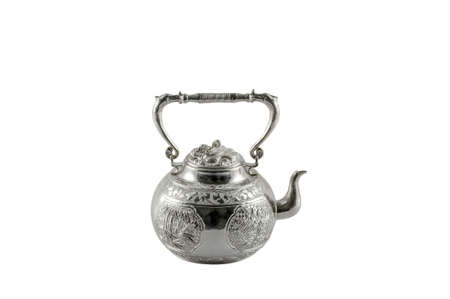 inherit: silver teapot Stock Photo
