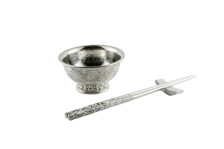 inherit: Silver tableware Stock Photo