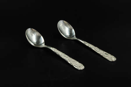silver: Silver tableware Stock Photo