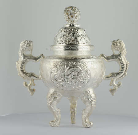 inherit: Silver censer Stock Photo