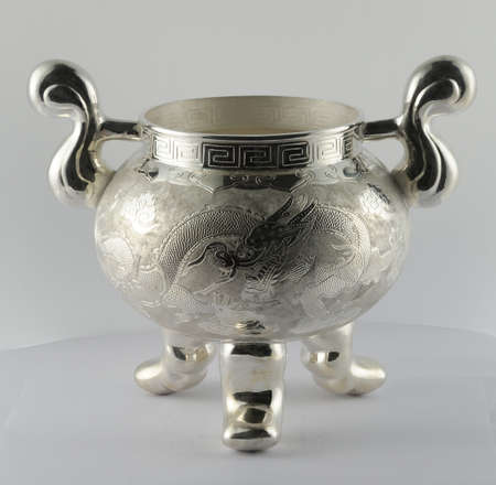 silver: Silver censer Stock Photo