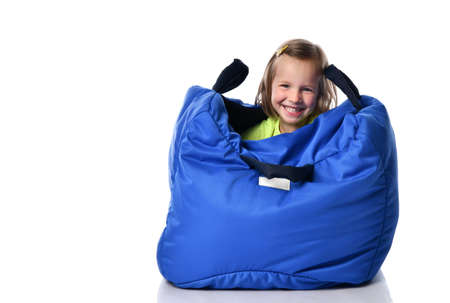 simulator bag is shaped like a house. It is a tool for developing your child and understanding his feelings. integrates three main body systems - proprioceptive, tactile and vestibular. Stockfoto