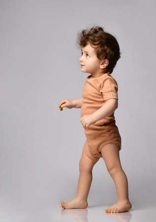 The first steps of a baby