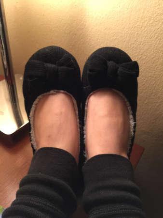 Soft and cozy slippers Фото со стока
