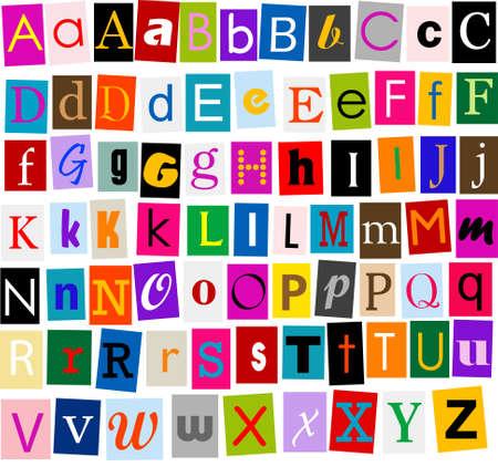 write a letter: Alphabet