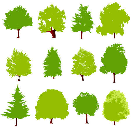 tree icons Stock Vector - 6362331