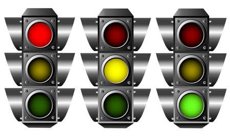 traffic control: Sem�foro  Vectores