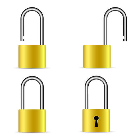 lock icon collection Stock Vector - 8054357