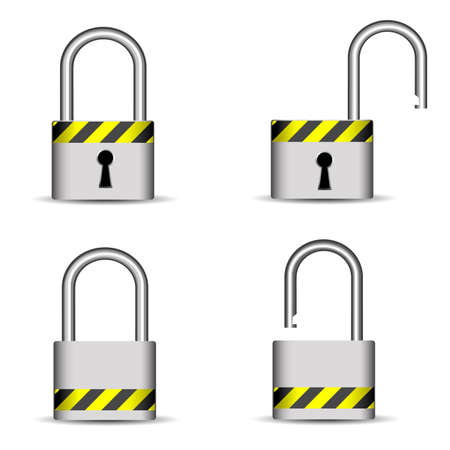 lock icons Stock Vector - 8054359