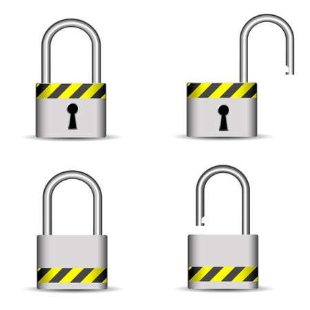 lock icons Stock Vector - 8054359