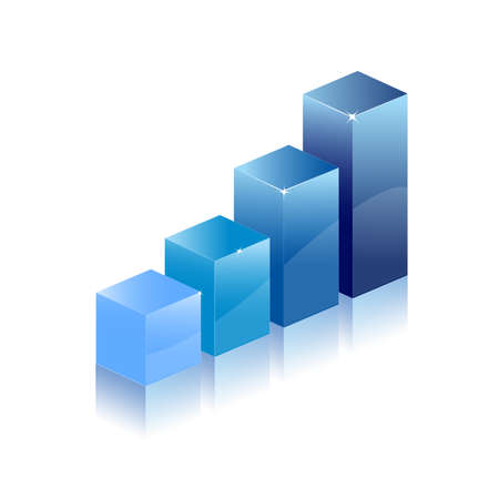graph chart diagram Stock Vector - 8054350
