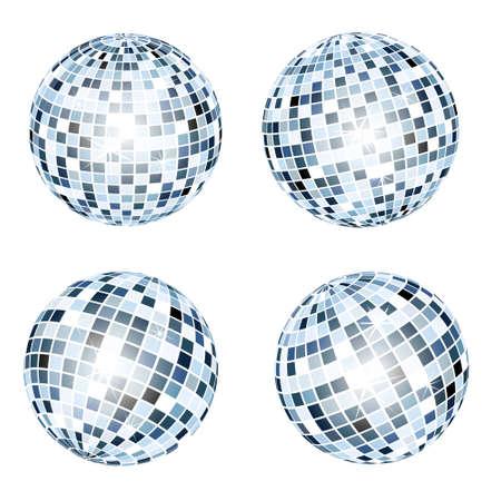 retro disco: Bolas de discoteca  Vectores