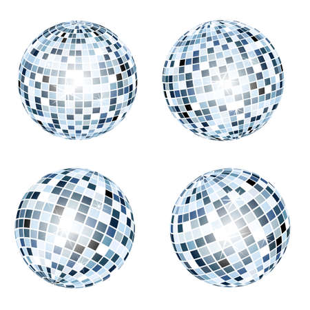 blue balls: Disco balls