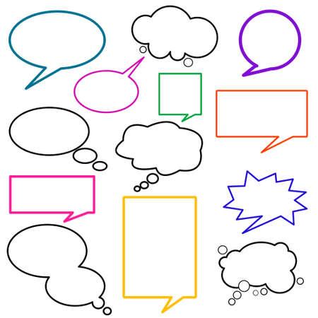 conversing: dialog, balloons