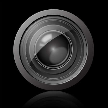 digital eye: Camera lens icon Illustration