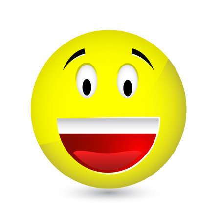 Happy smiley Stock Vector - 8055914