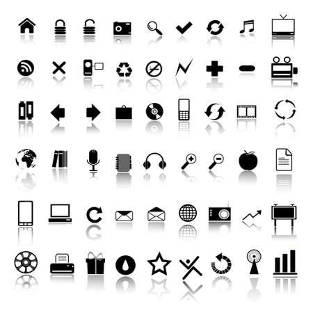 iconos de música: iconos de Web  Vectores