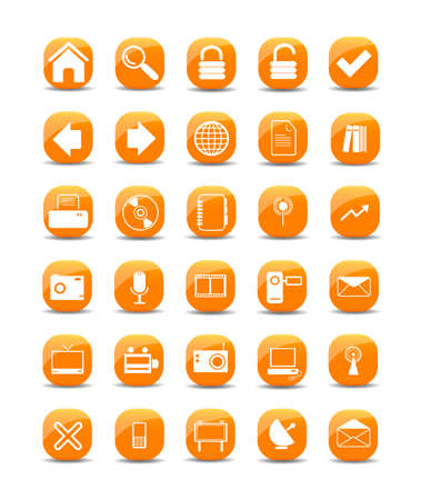 web icons Stock Vector - 8059317
