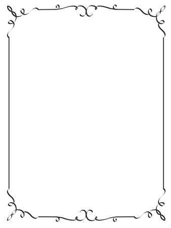 vertical lines: decorative frame