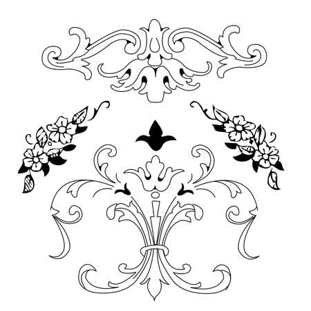 simple frame: floral decorative ornament