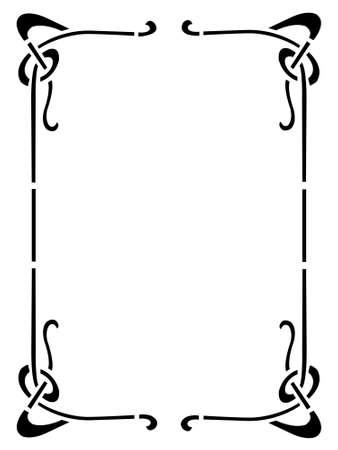 refine: cornice decorativa Vettoriali