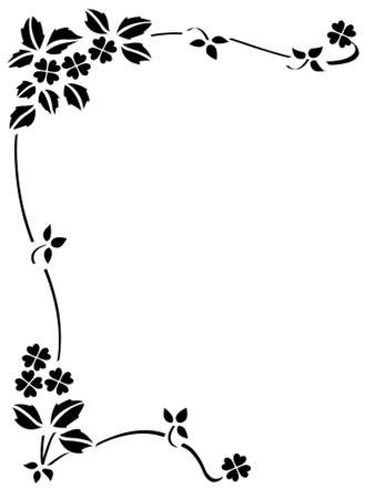floral decorative ornament frame Vector